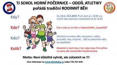 TJ SOKOL HORNÍ POČERNICE – ODDÍL ATLETIKY pořádá tradiční RO