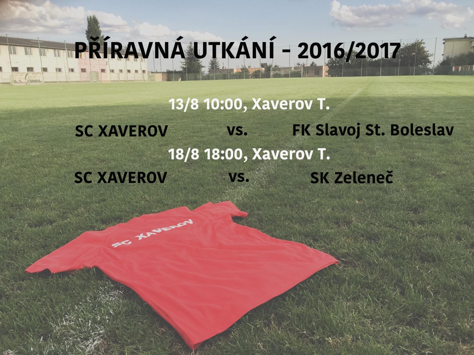 SC Xaverov příprava léto 2016/2017